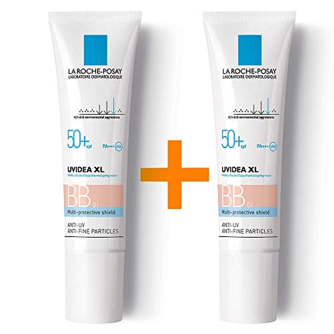 スポット耐えられる気を散らす[ 1 + 1 ] La Roche-Posay ラロッシュポゼ UVイデア XL プロテクションBB(01ライト) Uvidea XL BB Cream - #01 (30ml) SPF50+ PA++++ フランス日焼け止め