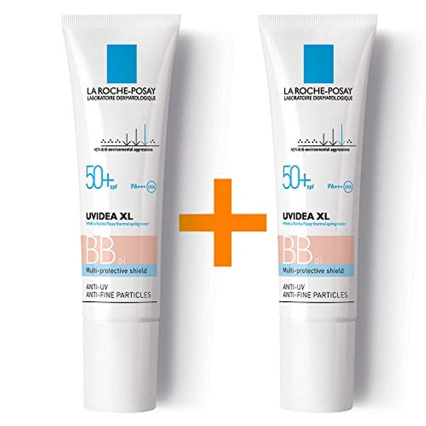 一緒に栄光のペインギリック[ 1 + 1 ] La Roche-Posay ラロッシュポゼ UVイデア XL プロテクションBB(01ライト) Uvidea XL BB Cream - #01 (30ml) SPF50+ PA++++ フランス日焼け止め