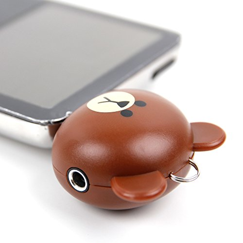 ノベルティブラウンBear 2ウェイ3.5 MM Kids Headphone Splitter for Sony nw-zx2 Walkman | Xperia a4 | Xperia c4 | Xperia c5 Ultra | Xperia e4g | Xperia e5 | Xperia l1 | Xperia m4 Aqua – by DURAGADGET