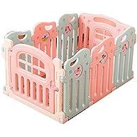 赤ちゃんの遊び場フェンス子供の安全な遊び場の男の子と女の子の安全活動ホームプレイハウス赤ん坊の幼児クロールマット (サイズ さいず : 6+2)