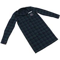 SONONIA 70cm 1/3スケール男性BJDドール用 カジュアル チェック柄 ロングオーバーコート 3色 - グリーン