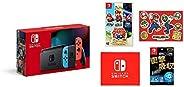 Nintendo Switch 本體 (ニンテンドースイッチ) Joy-Con(L) ネオンブルー/(R) ネオンレッド(バッテリー持続時間が長くなったモデル)&【任天堂ライセンス商品】Nintendo Swit