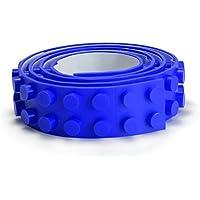 わくわく堂 レゴ LEGO デュプロ 互換性 シリコンブロックテープ 2ドット100cm 切れる 曲がる ブルー 青