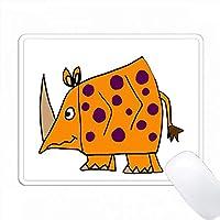面白いオレンジ色のRhinoアートを見つけた PC Mouse Pad パソコン マウスパッド