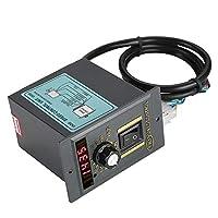 AC 220ボルト50 Hz 15-400ワット電源デジタル調整可能な無段階モータスピードコントローラ0-1450 rpm(120W)