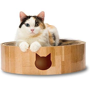 猫壱 バリバリボウル 猫柄 丸型爪とぎベッド