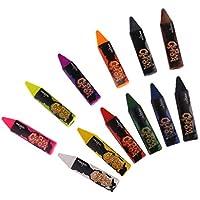 B Baosity 品質保証 無毒無害 非放射性 フェイスペイント ボディペイント 塗装チューブ 蛍光体 12色