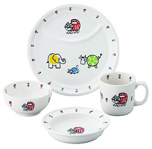 リサ・ラーソン ベビーマイキー 子供食器 4ピースセット (化粧箱入) LL50-113