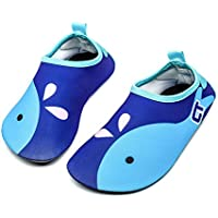 Qevellya Kids Water Shoes Swim Slip on Barefoot Aqua Socks Shoes for Beach Pool Surfing Boys Girls Toddler