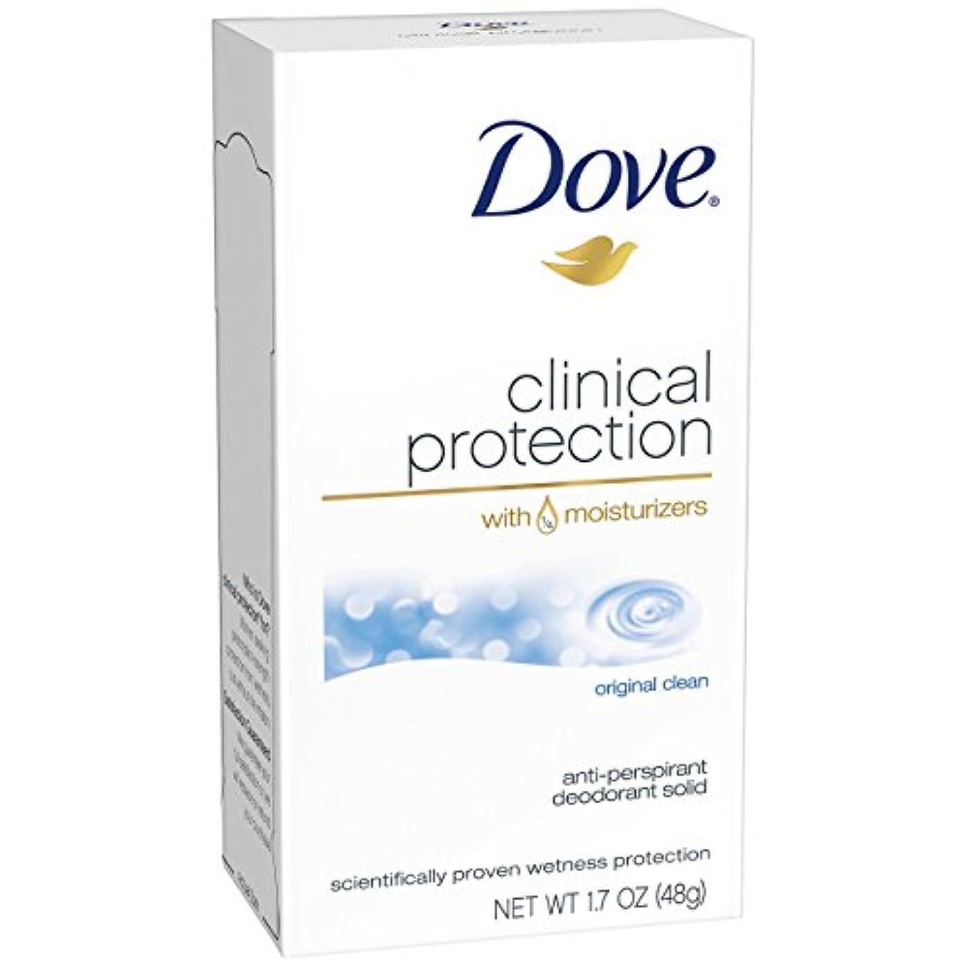 細断透けて見えるインドダヴ クリ二カルプロテクション オリジナルクリーン デオドラント固形48g Dove Clinical Protection Antiperspirant Deodorant, Original Clean[並行輸入品]