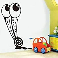 Lixiaoer 大きな目カタツムリ壁デカール漫画動物Pvcウォールステッカー防水アート壁画用ベビーベッドルームホームデコレーション39×59センチ