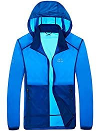 Fly Year-JP Mens Fashion Summer Solid Color Sun Protection Skin Lightweight Jackets
