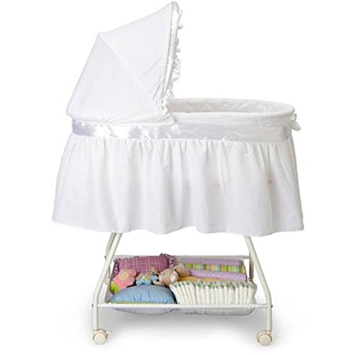 RoomClip商品情報 - Delta Children 乳幼児用 ベビーベッド バシネット  Sweet Beginnings Bassinet ホワイト [並行輸入品]