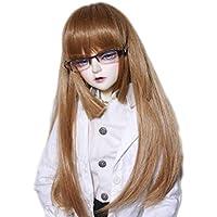 BJD人形 ウィッグ エレガント 長い髪 褐色 ストレートフリンジ 甘い女の子 ドール修理用 装飾 (1/3 L)