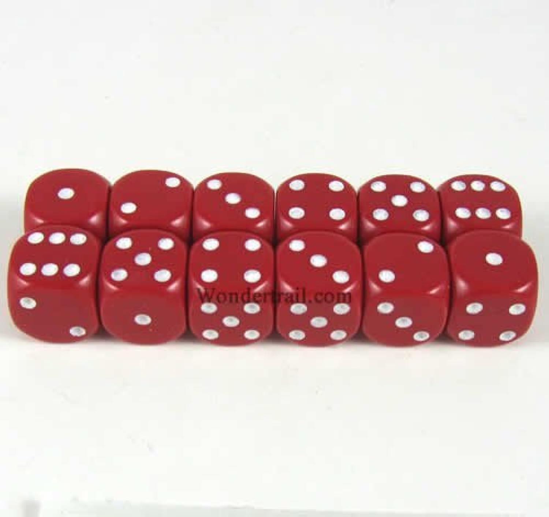 変換する付属品天使Red Dice with White Pips D6 12mm (1/2in) Pack of 12 Wondertrail WCX25804E12