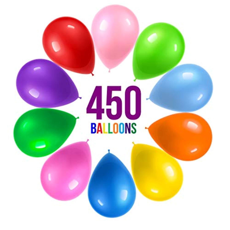 Prextex 450 パーティーバルーン 12インチ 10色詰め合わせ レインボーカラー - パーティーデコレーション、誕生日パーティー用品、アーチデコレーション用バルクパック - ヘリウム品質