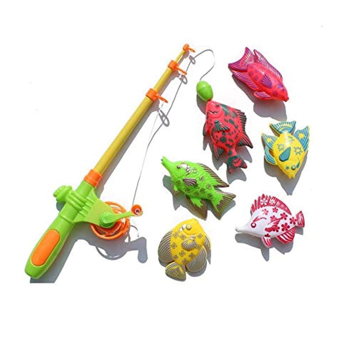 調和上記の頭と肩セレナクリエイティブ7ピース磁気釣り玩具セット釣り学習教育プレイセット釣りゲームおもちゃ用男の子&女の子 - 多色 - 1サイズ