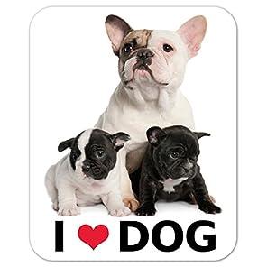 kmag 犬マグネット I love dog フレンチブルドッグの親子