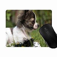 マウスパッド かわいい犬, 疲労低減 ワイヤレスマウスパッド 耐久性が良い 滑り止めゴム底 滑りやすい表面 マウス用パット 1L314