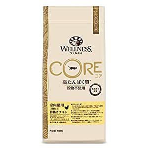 ウェルネス コア(穀物不使用・高たんぱく質) 室内猫用(1歳以上) 骨抜きチキン 400g