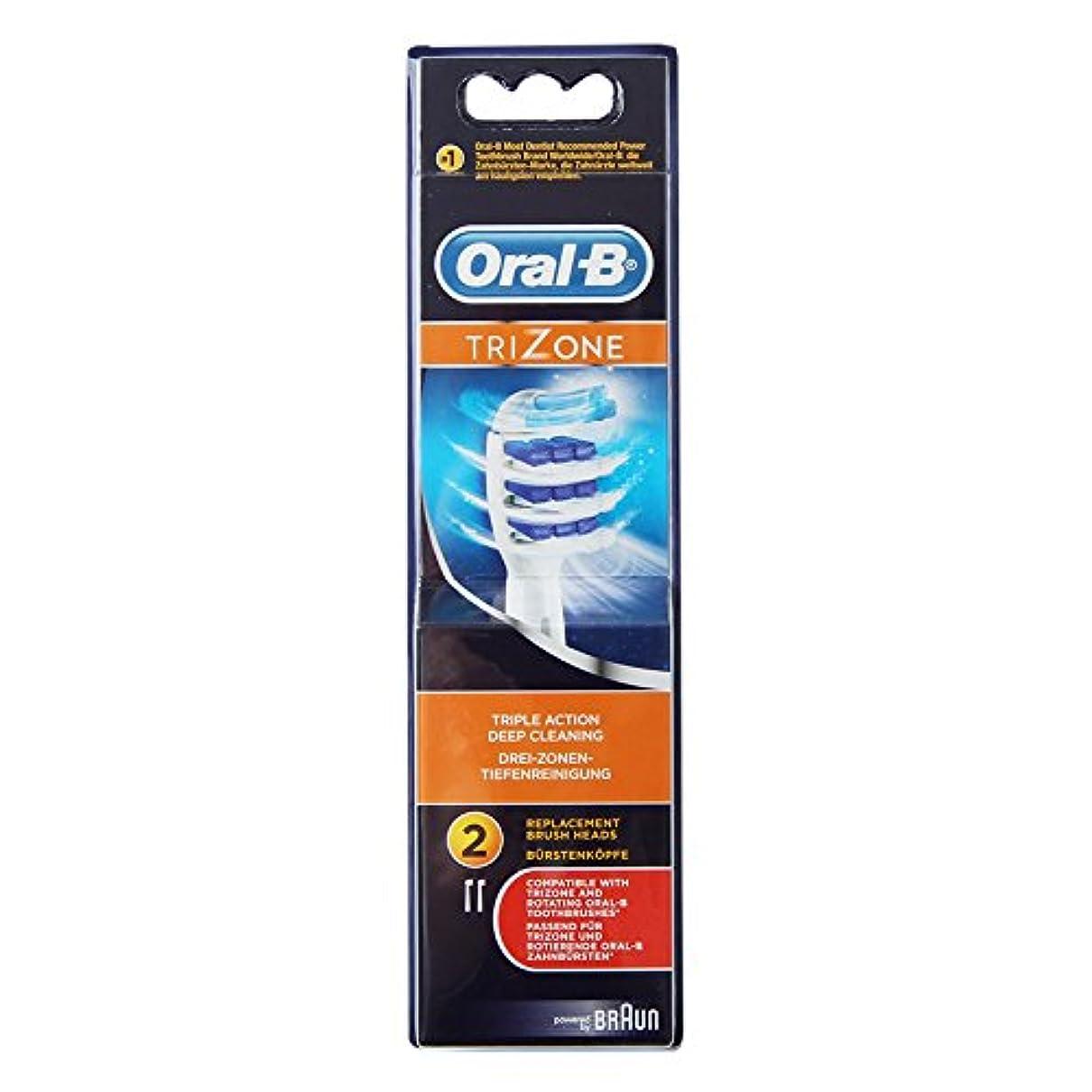 ウガンダ鳥酔っ払いBraun Oral-B EB30-2 TriZone 交換式充電式歯ブラシヘッド 1Pack [並行輸入品]