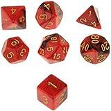 Blesiya 7pcs Multi Sided Dice D4 D6 D8 D10 D12 D20 Dungeons D&D TRPG Warhammer #2