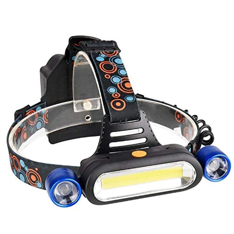 発音する教えて告発LEDヘッドライト、COB屋外照明、強いヘッドライト、USB充電、ヘッドマウント懐中電灯