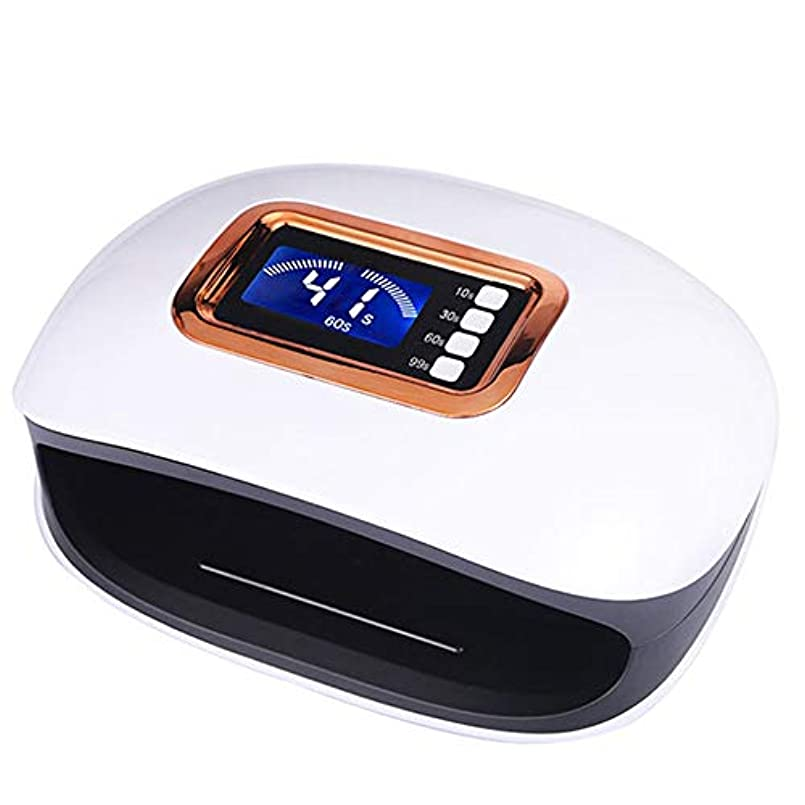 美人構築する回路72W UVランプは、自動センサー透明時間表示と、36個のLED、ネイルドライヤー、ネイルジェル研磨硬化爪でネイルLEDライト