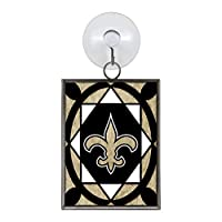 NFL New Orleans Saints Stained Glass Ornament
