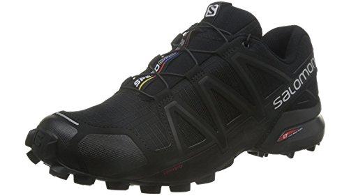 [サロモン] トレイルランニングシューズ SPEEDCROSS 4 メンズ Black/Black/BLACK METALLIC