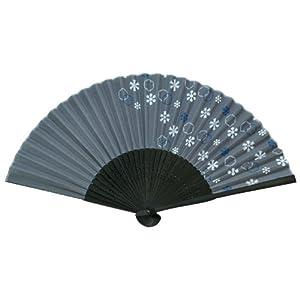 四国団扇 扇子 男女兼用 涼彩 雪紋 約2.5×21×1cm