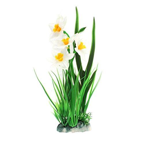 Uotyle 水族館飾り 水槽 プラント 造花のクローバーの植物 人工水草 癒し水景