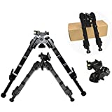 FIRECLUB 2018 New Arrival QD Bipod Black Tactical Bipod 7.25-9 inches Extension Flat Adjustable Stable