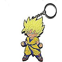 ZeroGoo DBZ Goku Vegeta Gogeta Dragon Ball Z Keychain,Pop Anime Pvc Metal Key Chain Pendant Accessories Décor
