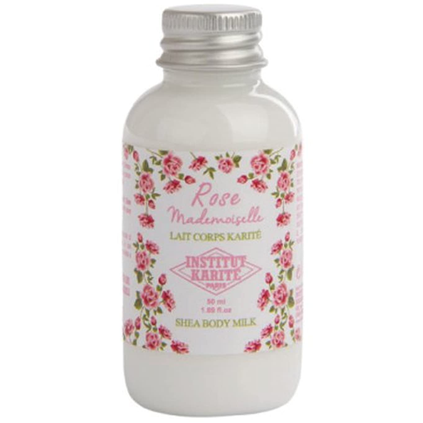 祈り希望に満ちた駐地INSTITUT KARITE カリテ Rose Mademoiselle クラシックローズ Travel Shea Body Milk 50ml