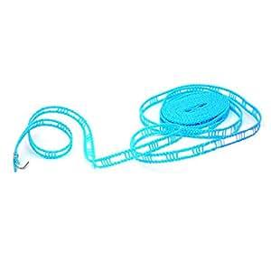 ZooooM 物干し ロープ 洗濯 物 乾燥 便利 家事 省スペース 持ち歩き コンパクト 軽量 フック アウトドア レジャー 紐 ものほし 竿 引っ掛け ハンガー 風 落下 防止 一人暮らし 手軽 (サイズ:約5m)(カラー:ランダム) ZM-HIMOROPU-5