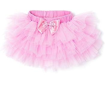 166f42f055f62 FCLBY クリスマス キッズチュチュスカート ベビー 6色揃って プリンセス チュールスカート(0-36か月) (ピンク)