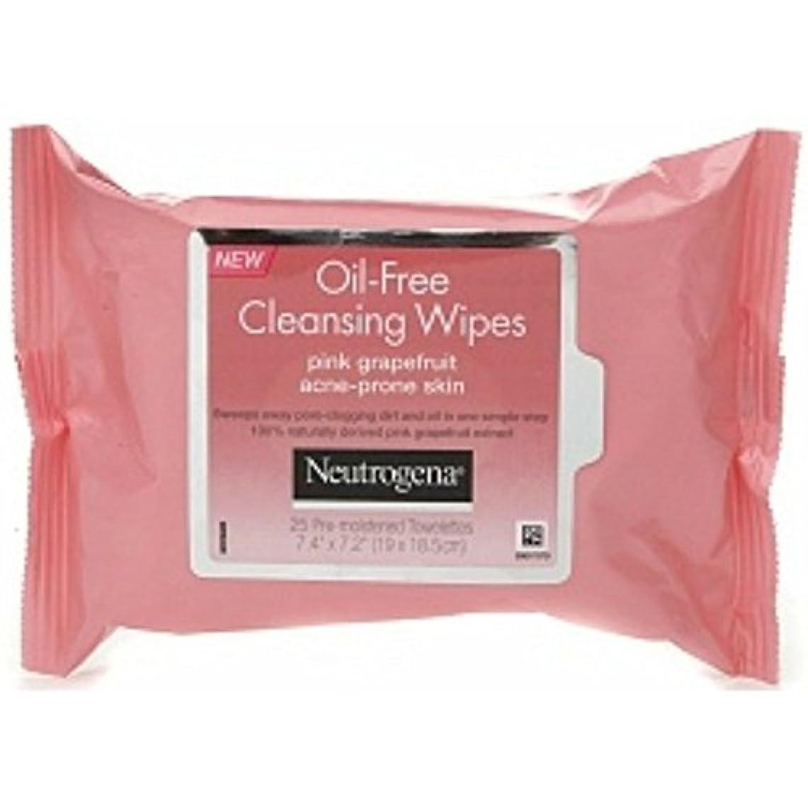 和解するチロフリンジNeutrogena Oil-Free Pink Grapefruit Cleansing Wipes, 25 Pre-moistened Towelettes Count 7.4