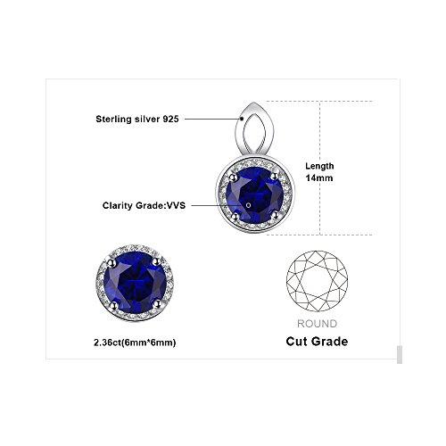 JewelryPalace 2.4ct 高品質 人工 ブルー サファイア イヤリング ゆれる 9月 誕生石 スターリング シルバー925 ピアス レディース 人気