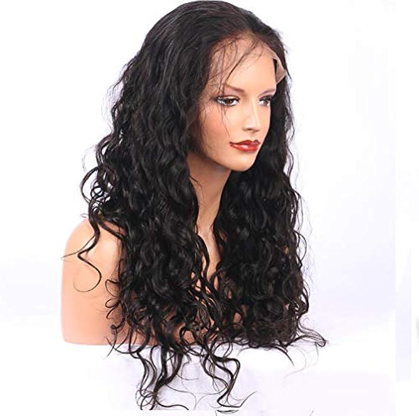 はい共役浸す女性150%密度かつらブラジル髪フロントレース合成完全かつら耐熱毛巻き毛のかつら