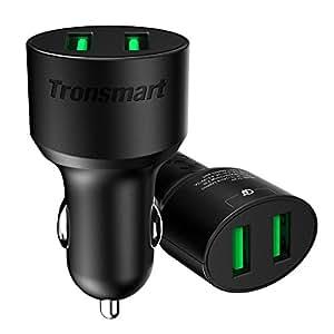 Tronsmart 4.8A/24W 車載充電器 USBカーチャージャー シガーソケットチャージャー 急速充電 超小型 急速充電器 スマホ 充電器 2ポート iPhone X/iPhone 8 / iPhone 7 Plus/Xperia / Galaxy等対応 (36W)