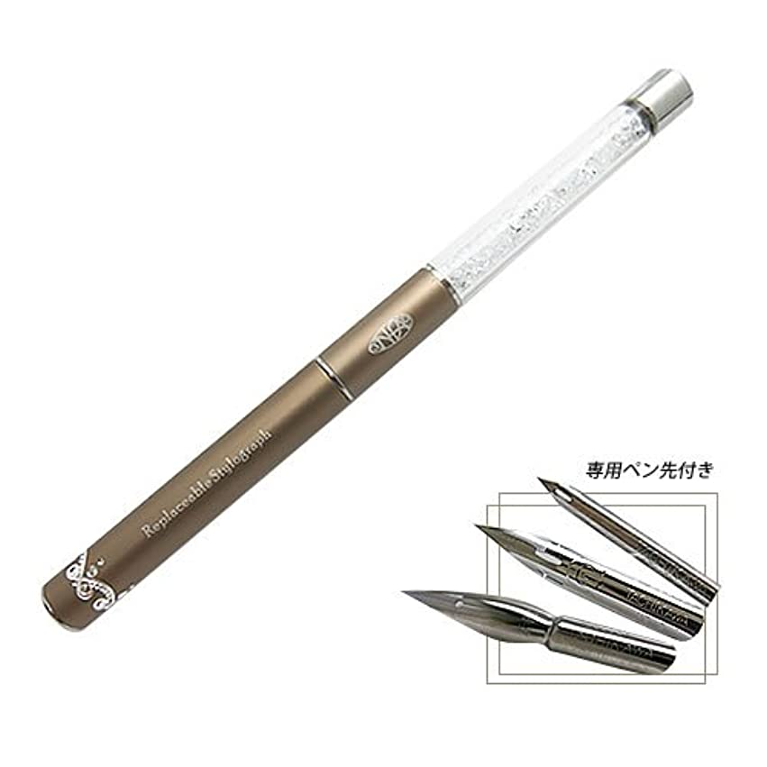 刈る者適切なつけペン型 ネイルアートペン Diamond Series ペン先3点セット付