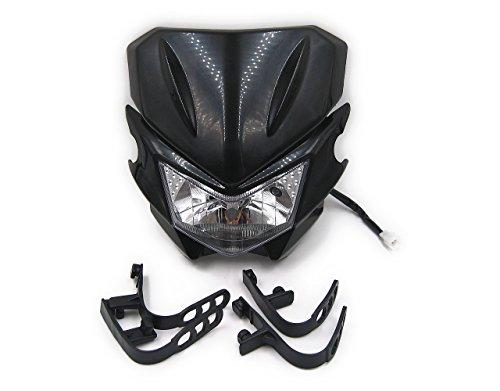 汎用 オフロード バイク ヘッドライト カウル 選べるカラー (ブラック)