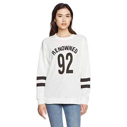 (リザウンド) ReSOUND ロゴ カットソー シャツ トレーナー 長袖 英字 プリント 大きい サイズ ( M L XL ) 男 女 兼用 可愛い ペアルック カップル お揃い ルームウエア 学生 サークル 旅行 ホワイト M #82