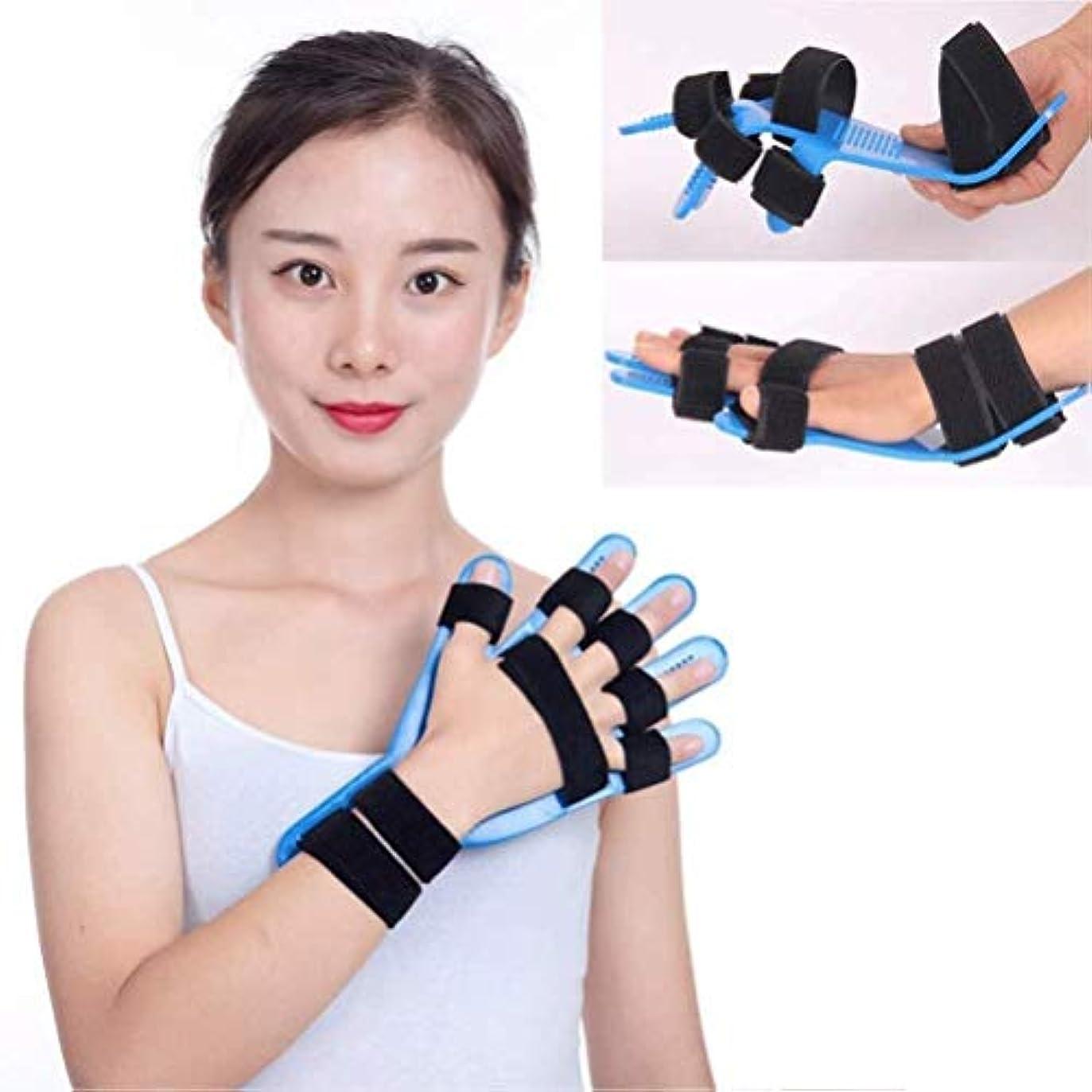 休憩するガロン承認外傷性脳卒中/片麻痺/リハビリテーション-Fingerスプリントブレースの手の手首のトレーニング装具ストローク機器