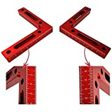 90 Degree Positioning Squares Corner Clamping Square, 4.7 Inch x 4.7 Inch Aluminium Alloy L-type Right Angle Ruler Clamps Woo