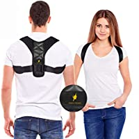 Posture Corrector for Women and Men - Adjustable Shoulder Support Brace - Back Straightener - Relief from Neck and...