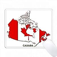 地図上のカナダの国旗 PC Mouse Pad パソコン マウスパッド