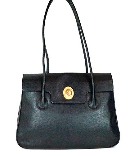 クリスチャン(ディオール) Dior トートバッグ ハンドバッグ ビジネスバッグ 黒 g322 [中古]