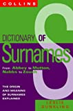 Dictionary of Surnames: From Abbey and Mutton, Nabbs to Zouch